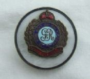 British WW1 Royal Engineers Sweetheart Brooch-Silver Rim & MOP Back. ref.no.ML70